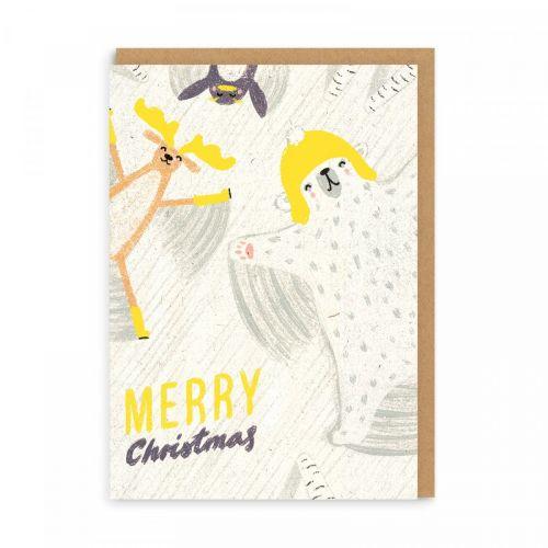 Ohh Deer / Vianočné prianie Merry Christmas Polar Bear