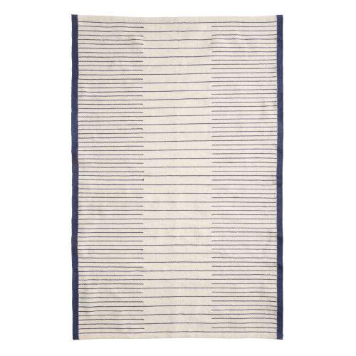 Hübsch / Tkaný koberec Ivory White & Blue 120 x 180 cm