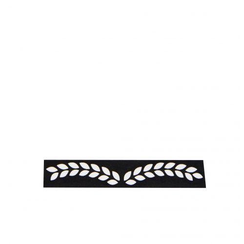MADAM STOLTZ / Dizajnová samolepiaca páska Leafs black/white