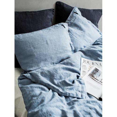 Lovely Linen / Prírodné ľanové obliečky Dusty blue