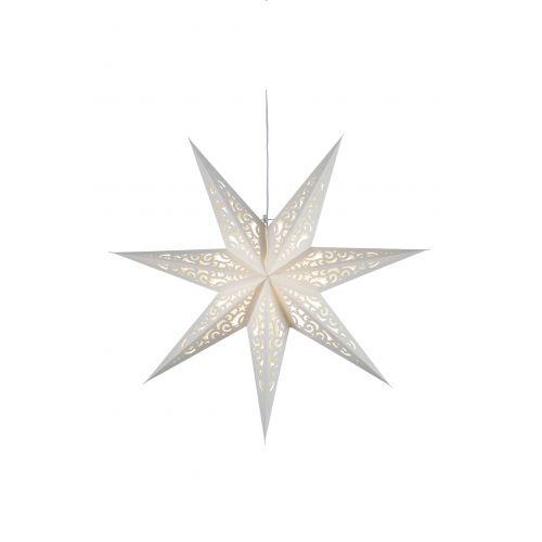 STAR TRADING / Závesná svietiaca hviezda Lace White 44 cm