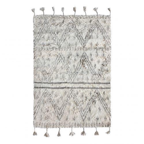 HK living / Vlnený koberec Beige Black 120x180cm