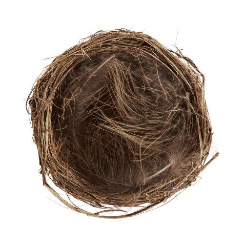 MADAM STOLTZ / Dekoratívne vtáčie hniezdo s pierkami