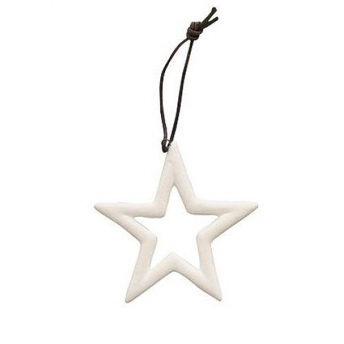 Krasilnikoff / Porcelánová vianočná ozdoba White Star