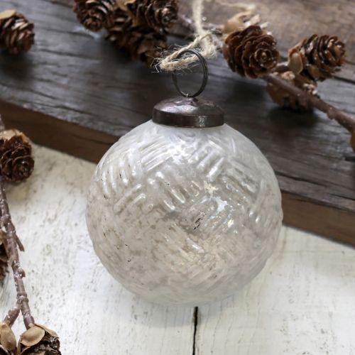 Chic Antique / Vianočná ozdoba Antique White 7 cm