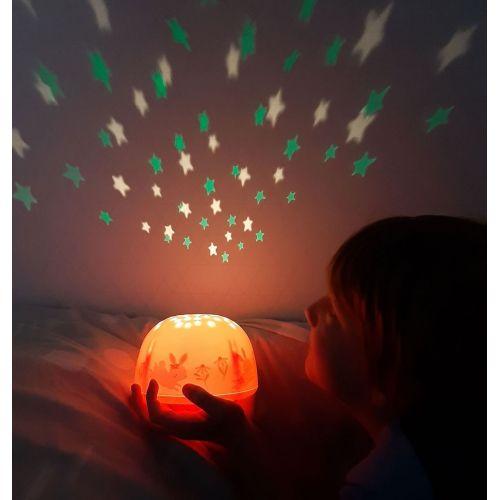 A Little Lovely Company / Dětská LED lampička s projektorem noční oblohy Bunny