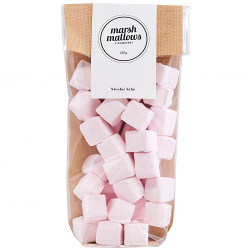 Nicolas Vahé / Penové bonbóny Marshmallows Strawberry 125 g