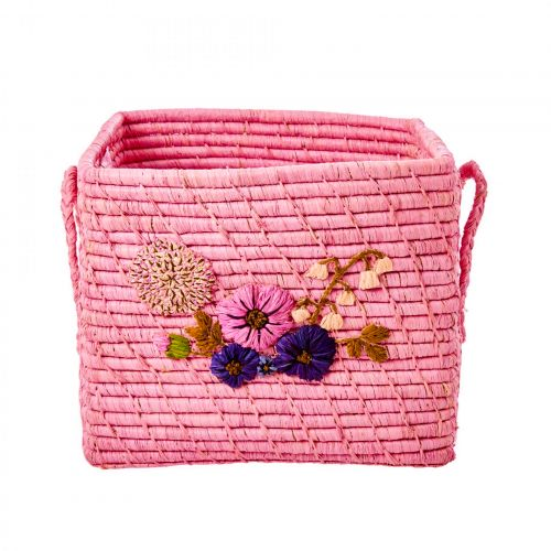 rice / Ručne pletený košík Flower Blush