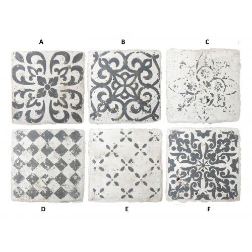 IB LAURSEN / Mini keramická kachlička Marrakech Grey