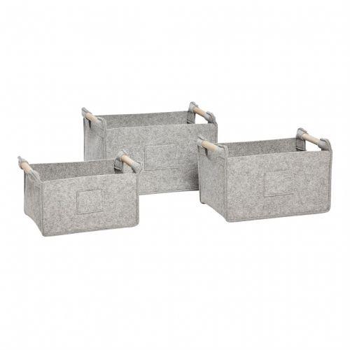 Hübsch / Plstený úložný box Grey