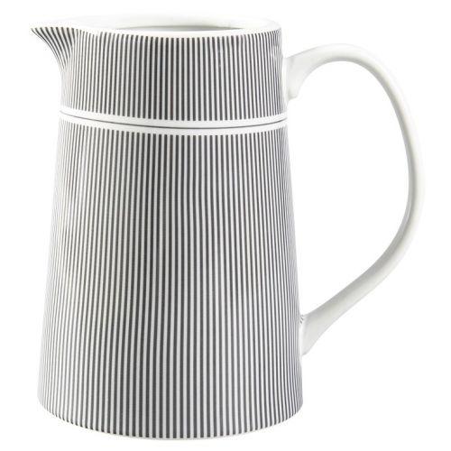 Krasilnikoff / Porcelánový džbán Grey Stripes