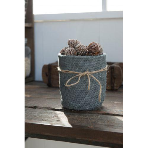 IB LAURSEN / Jutový obal na kvetináč - šedý