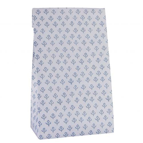 IB LAURSEN / Papierový sáčok Blue Flowers L
