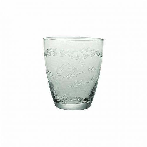 GREEN GATE / Brúsený pohár Clear