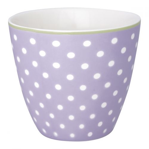 GREEN GATE / Latte cup Spot Pale Lavendar