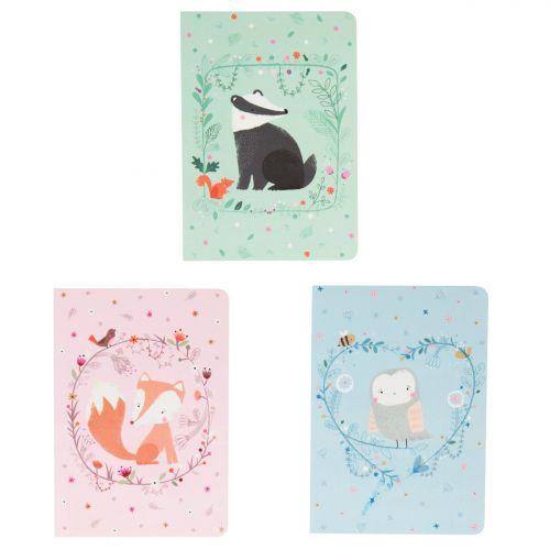 sass & belle / Mini notýsek Owl/Fox/Badger