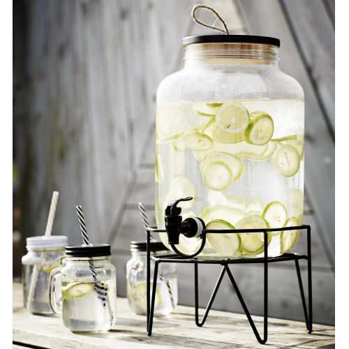 MADAM STOLTZ / Nádoba na limonádu so stojanom Clear 8l