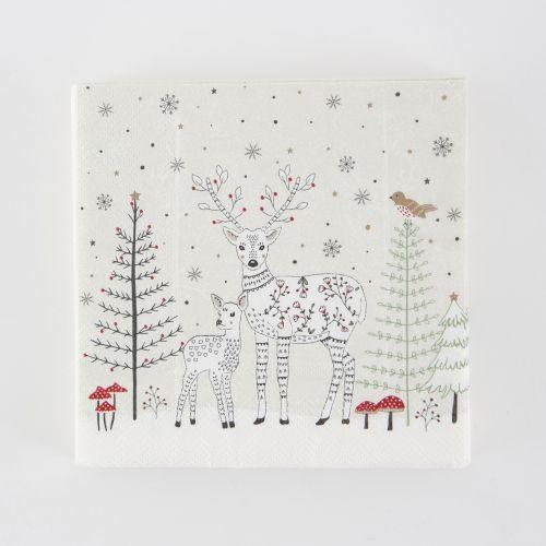 sass & belle / Papierové obrúsky Folk Deer 20 ks