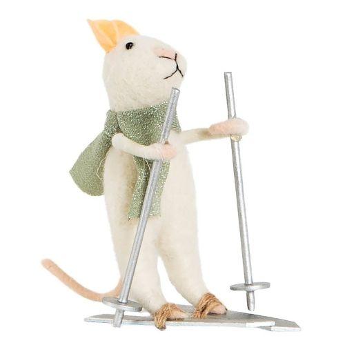 sass & belle / Vianočná ozdoba Skiing Mouse