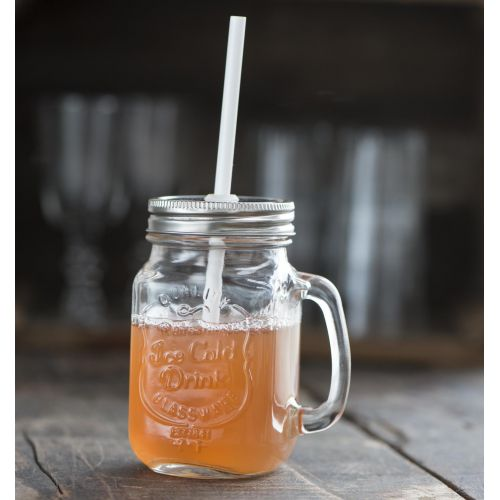 IB LAURSEN / Pohár s uchom a brčkom Ice Cold Drink