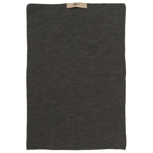 IB LAURSEN / Pletený kuchynský uterák Mynte Dark Grey Melange