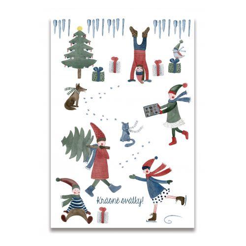 MANKAI Paper / Vianočná pohľadnica Škriatkovia