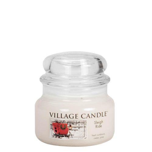 VILLAGE CANDLE / Sviečka v skle Sleigh Ride - malá