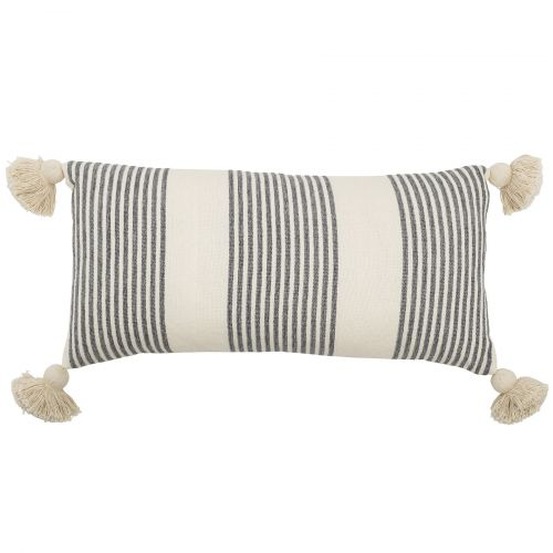 Bloomingville / Vankúš Grey Stripes 70x35 cm
