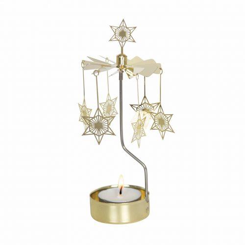 pluto produkter / Rotujúci svietnik Art Deco Star Gold