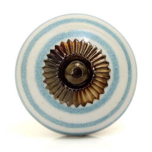 La finesse / Porcelánová úchytka Blue stripe