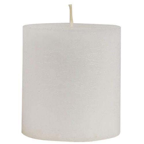 IB LAURSEN / Okrúhla sviečka Rustic White 7,5 cm