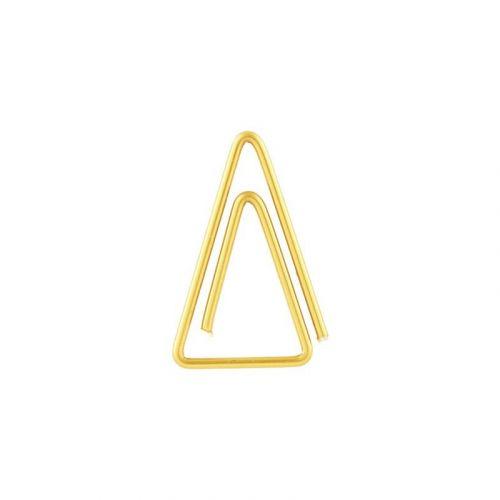 MONOGRAPH / Zlaté kancelárske spony Triangle - 20 ks