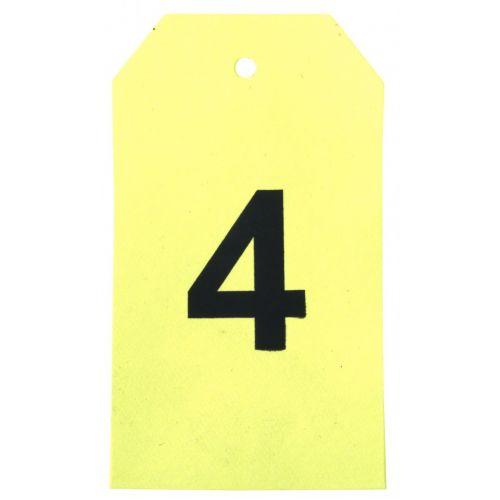 MADAM STOLTZ / Papírové štítky Neon yellow - 12 ks