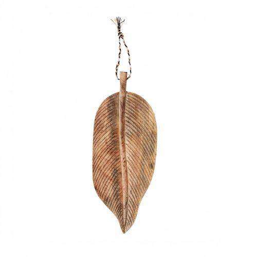 MADAM STOLTZ / Servírovací lopárik Mango Wood Leaf