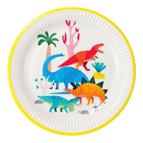 Talking Tables / Detský papierový riad Dinosaur Plates 8 ks