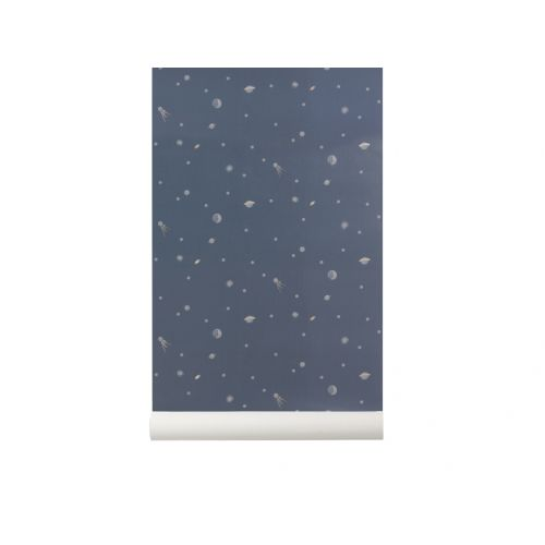 ferm LIVING / Tapeta Moon - Dark Blue