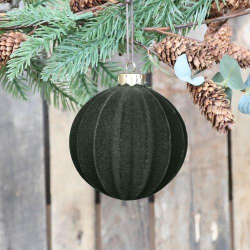 Chic Antique / Velúrová vianočná ozdoba Ball Moss 11 cm