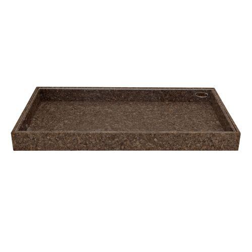 Bloomingville / Úložný box s plexi vekom Dark Cork - väčší