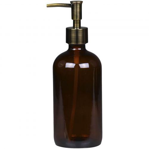 Chic Antique / Sklenený dávkovač na mydlo Mocca 480 ml