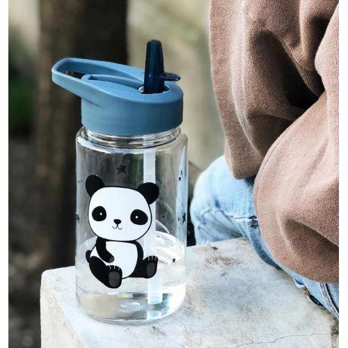 A Little Lovely Company / Detská fľaša so slamkou Panda 450ml