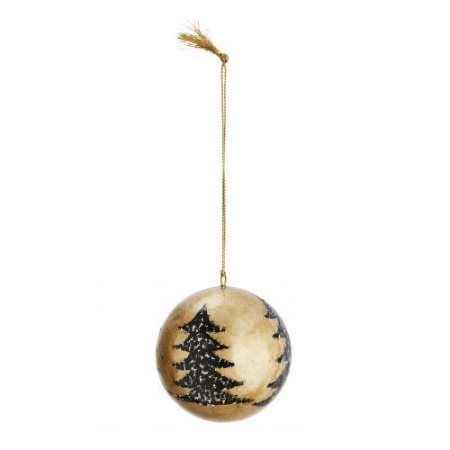 MADAM STOLTZ / Vianočná ozdoba Trees Gold - 4 cm
