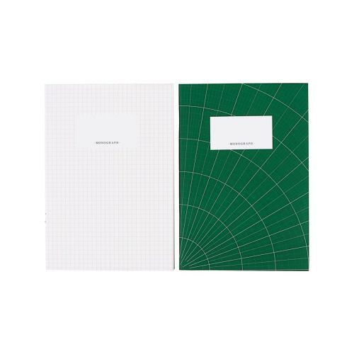 MONOGRAPH / Sada zošitov Green and White - 2ks