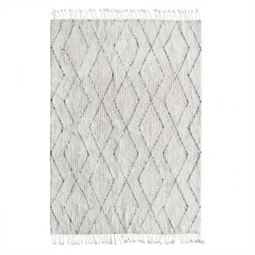 HK living / Bavlnený koberec Black and White 140x200cm