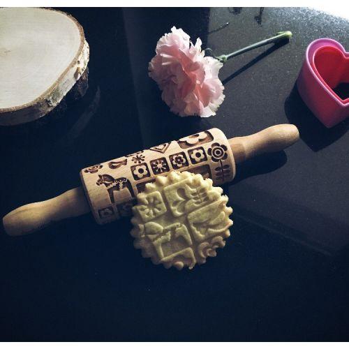 Goody Woody / Embosovaný valček na cesto Scandinavian Design - malý