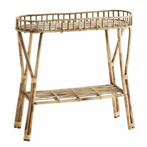 MADAM STOLTZ / Úzky bambusový stolík Natural