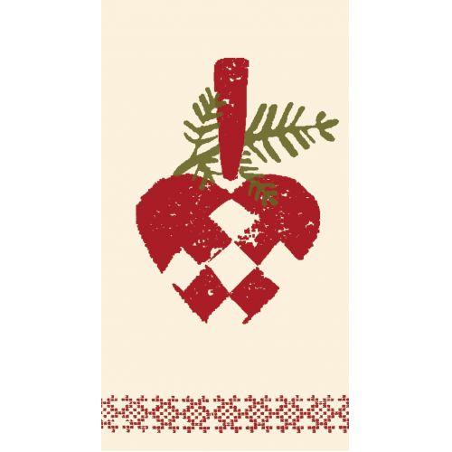 Maileg / Papierové obrúsky Heart - 16 ks