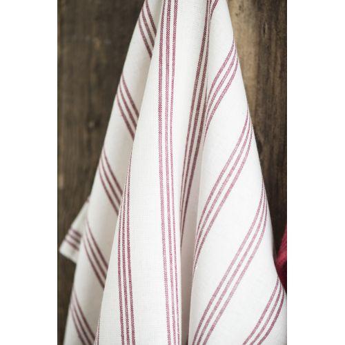 IB LAURSEN / Bavlnená utierka Red Stripes 50x70