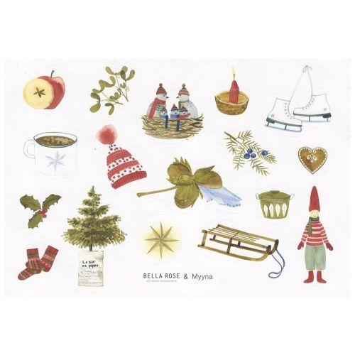 Bella Rose / Samolepky Vianočný Hygge Manifest (limitovaná edícia)