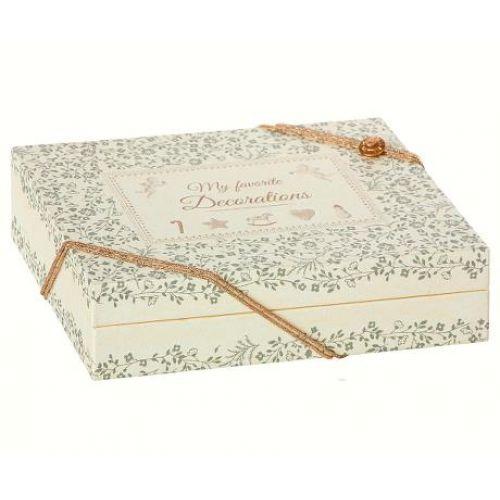 Maileg / Papierová krabička Christmas Decorations Box