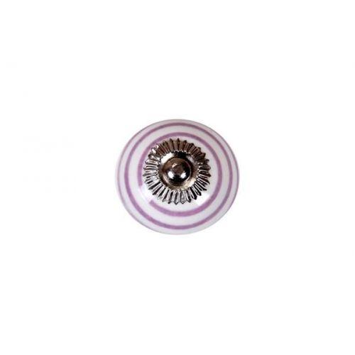 La finesse / Porcelánová úchytka Lavender striped